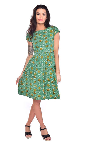 Sloth Print Tea Party Dress