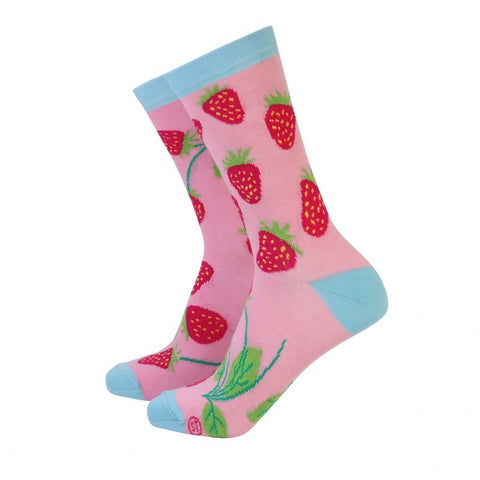 Sock Therapy 'strawberries' women's bamboo socks