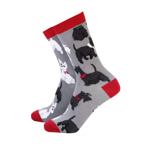 Sock Therapy 'Scottie dogs' women's bamboo socks