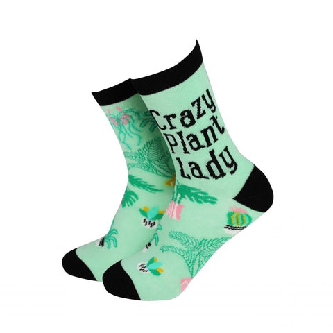 Sock Therapy 'crazy plant lady' women's bamboo socks