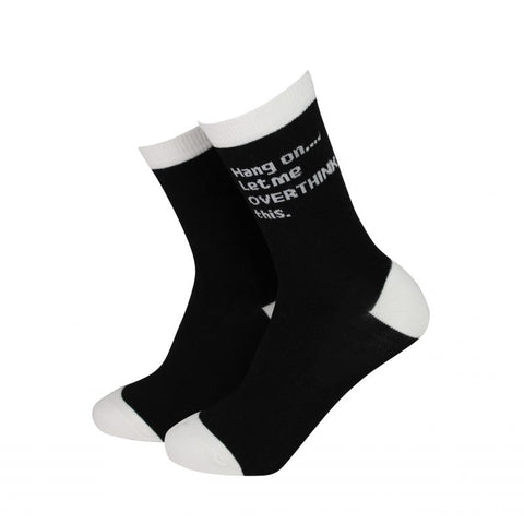 Sock Therapy 'let me overthink this' women's bamboo socks