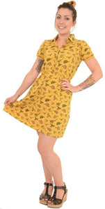 Dinosaur Gold Skater Dress
