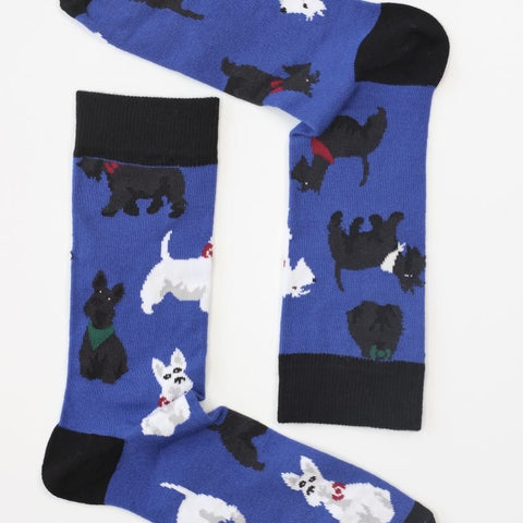 Sock Therapy 'Scottie dogs' men's bamboo socks