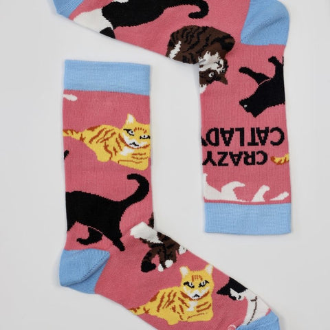 Sock Therapy 'crazy cat lady' women's bamboo socks
