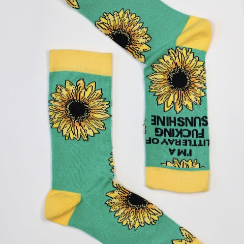 Sock Therapy 'ray of f——ing sunshine' women's bamboo socks