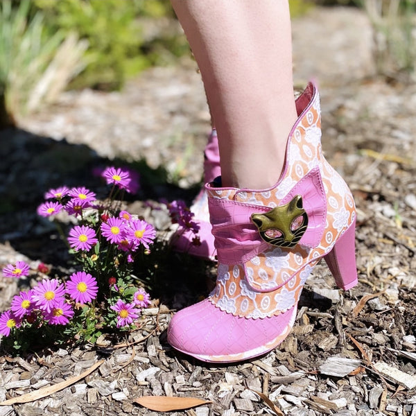 Irregular Choice Miaow Pink and Orange