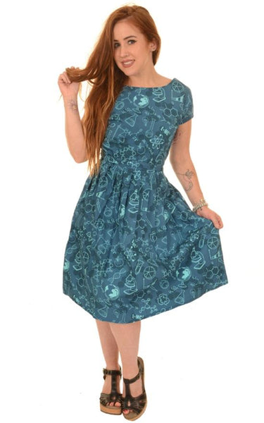 Chemistry Science Lab Printed Tea Party Dress