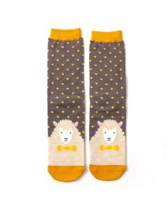 Mr Heron Sheepish Grey Socks