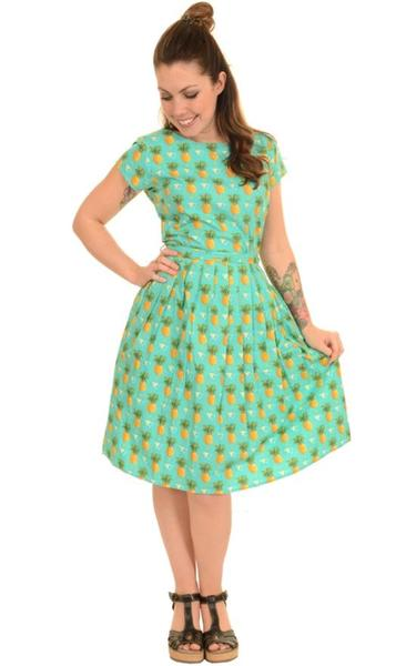 Tropical Pineapple Print Dress