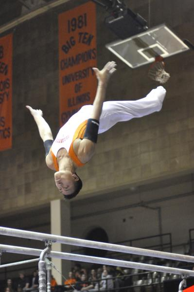 Chris Lung on Parallel Bars