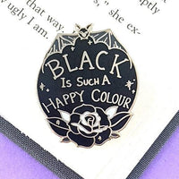 Jubly Umph Lapel Pin - Black is Such a Happy Colour