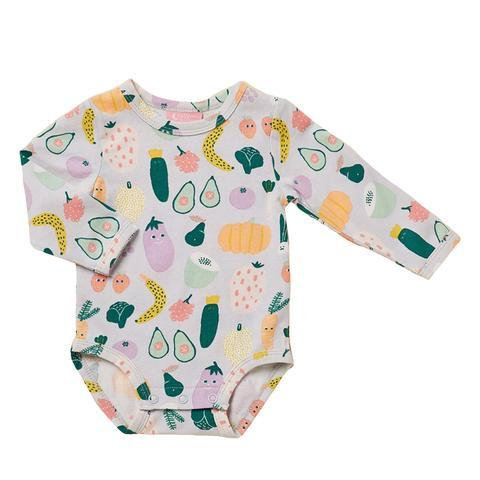 Halcyon Nights Long Sleeve Bodysuit - Winter Garden