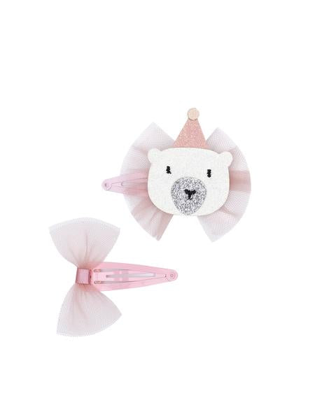 Billy Loves Audrey Hair Clip Duo - Well Dressed Bear
