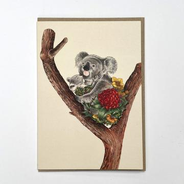 Marini Ferlazzo Greeting Card - Koala Cuddle