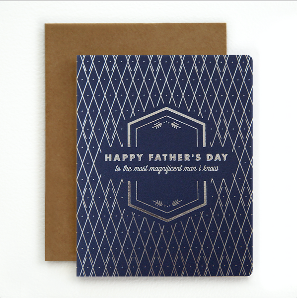 Bespoke Letterpress - Happy Father's Day