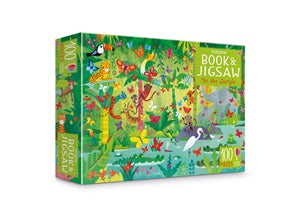 100 Piece Jigsaw and Book - Usborne - In the Jungle