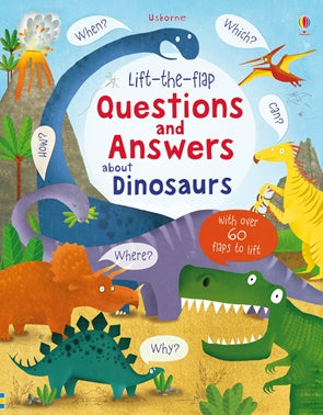Board Book - Usborne Lift the Flap Questions and Answers - About Dinosaurs
