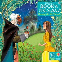 30 Piece Jigsaw and Book - Usborne - Beauty and the Beast