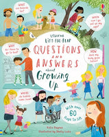 Board Book - Usborne Lift the Flap Questions and Answers - About Growing Up