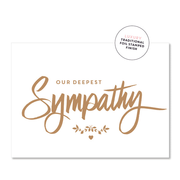 Just Smitten Luxury Card - Our Deepest Sympathy