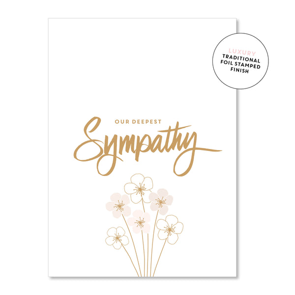 Just Smitten Luxury Card - Our Deepest Sympathy Flowers