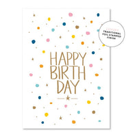 Just Smitten Luxury Card - Confetti Birthday
