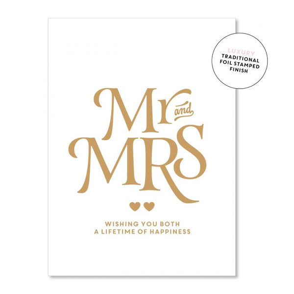 Just Smitten Luxury Card - Mr & Mrs White