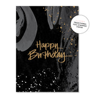 Just Smitten Luxury Card - Happy Birthday Black and Gold