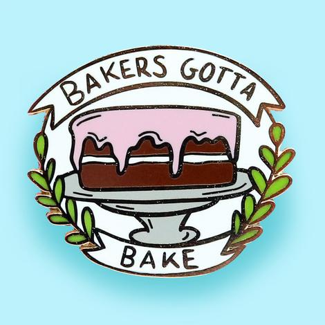 Jubly Umph Lapel Pin - Bakers Gotta Bake