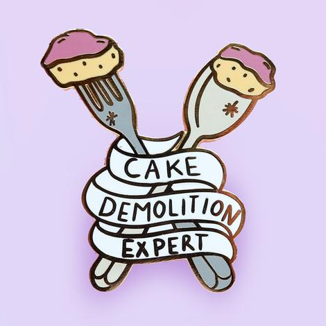 Jubly Umph Lapel Pin - Cake Demolition Expert
