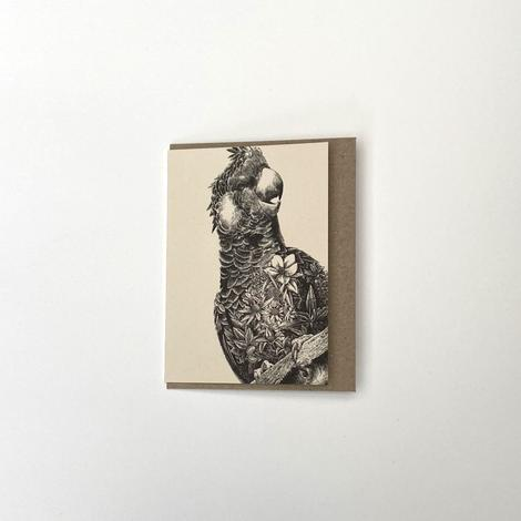 Marini Ferlazzo Small Greeting Card - Black Cockatoo