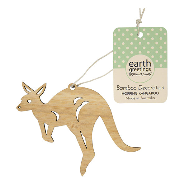 Earth Greetings Bamboo Decoration - Kangaroo