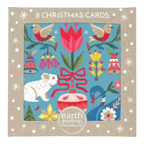Earth Greetings Christmas Card Pack - All the Trimmings
