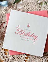 Bespoke Letterpress - Birthday Wishes for You
