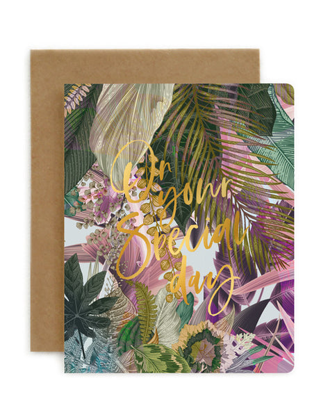 Bespoke Letterpress - Jungle On Your Special Day