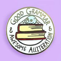 Jubly Umph Lapel Pin - Good Grammar & Awesome Alliteration