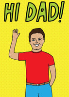 Able & Game - Father's Day Card - Hi Dad!