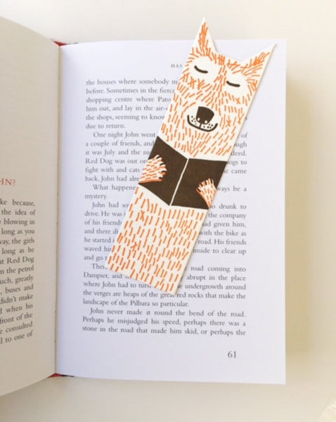 Little Paper House Press Bookmark - Wolf