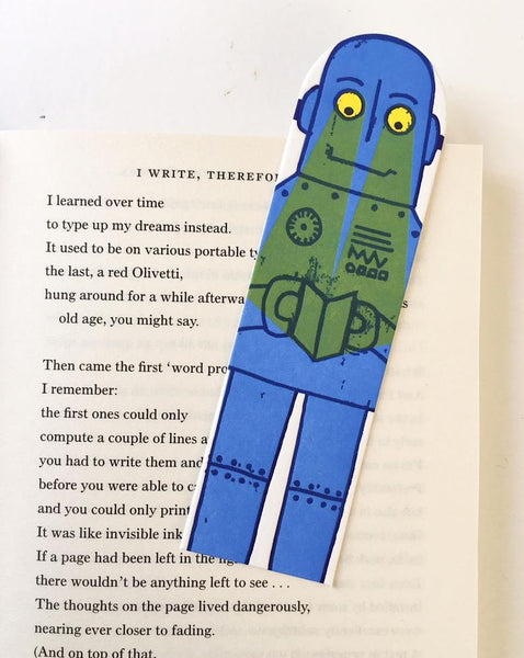 Little Paper House Press Bookmark - Robot