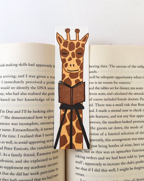 Little Paper House Press Bookmark - Giraffe