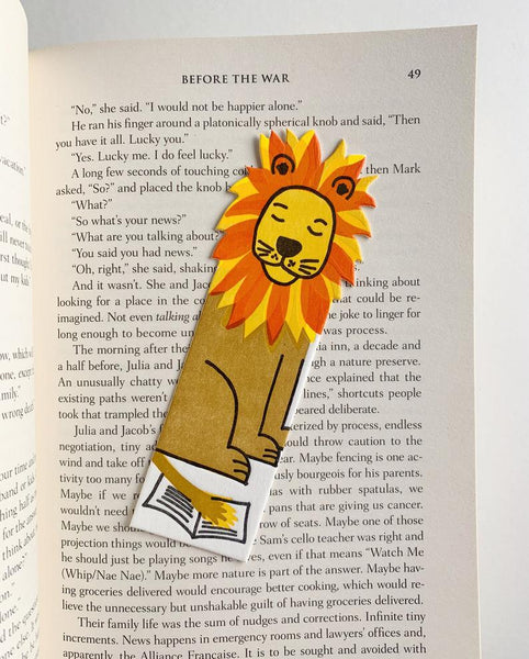 Little Paper House Press Bookmark - Lion