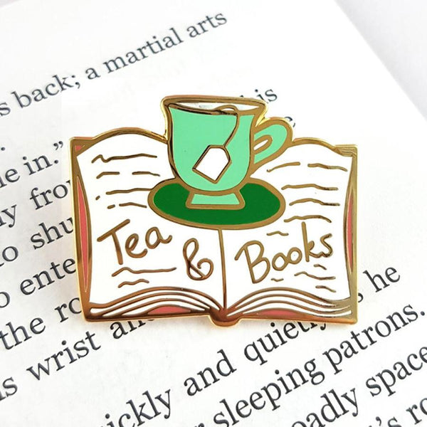 Jubly Umph Lapel Pin - Tea and Books
