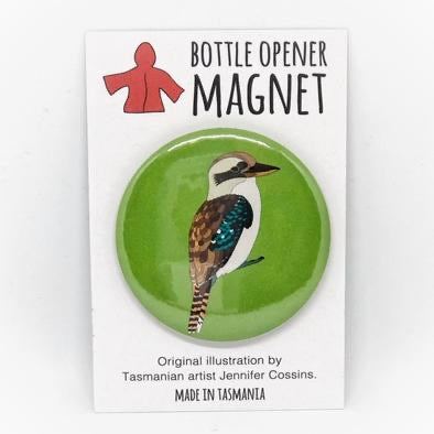 Red Parka Bottle Opener Magnet - Kookaburra