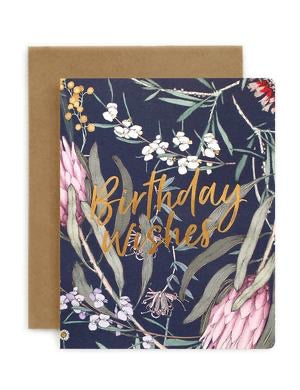 Bespoke Letterpress - Native Birthday Wishes