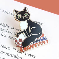 Jubly Umph Lapel Pin - Cats and Books
