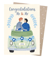 Earth Greetings Card - Grooms Honeymoon