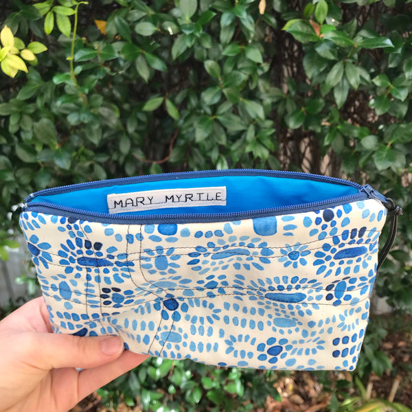 Mary Myrtle Zip Purse - Ocean Blue