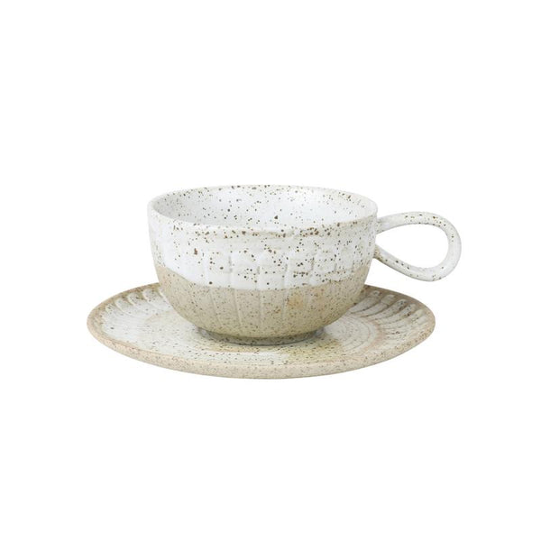 Robert Gordon - White Ceylon Cup and Saucer