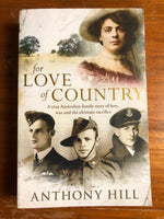 Hill, Anthony - For Love of Country (Trade Paperback)