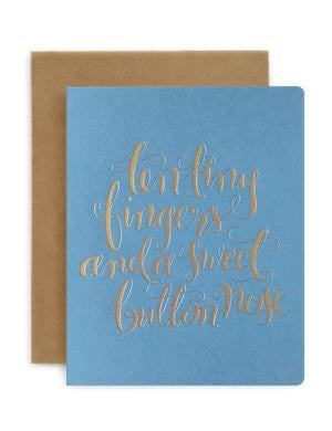 Bespoke Letterpress - Ten Tiny Fingers